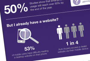 Mobile Website Statistics Infographic