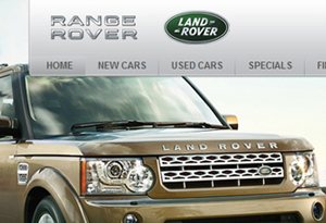 Macarthur Land Rover Website Design