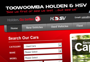 Toowoomba Holden Web Design
