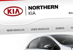 Northern Motor Group Kia Website Design